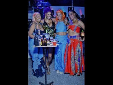 From left: Jay Jah, Claudia Rattigan (Bounty Killer's first lady),  Kerry Berry and Bad Indian.