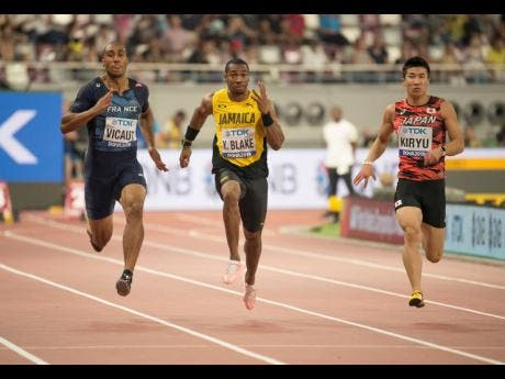Yohan Blake of Jamaica competes in the heat of the men's 100m at the 2019 IAAF World Championships in Doha, Qatar, last month.