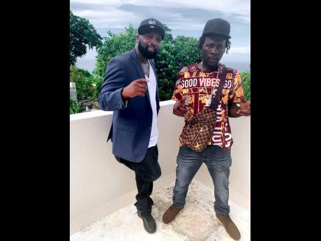 Producer Bobby Johnson and Reggae artiste, Ragga