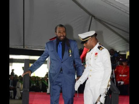 Ian Lewis from Inner Circle receives the Order of Distinction (Officer Class) for contribution to reggae music.