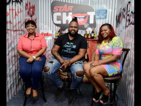Star Chat host Davina, with this week's panelists Trippple X and Stacious.