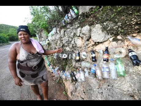 Crystal Ford of Pusey Hill district, found a creative way to make use of plastic bottles, showing off her artistic ability.