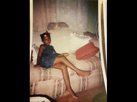 Alma Robinson's granddaughter Brandy Lamont when she was a child.