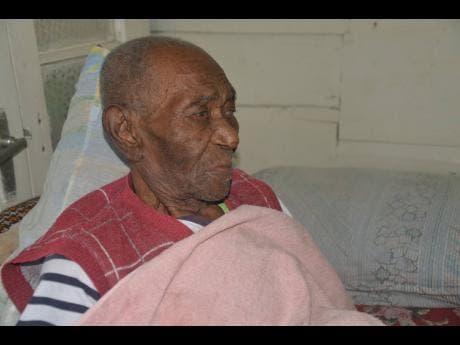 Maas Tata, a resident of Holly Hill, Westmoreland, is said to be 114 years old.