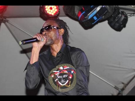 Bounty Killer, though coming from another performance, was still a vibrant force of the Coppershot Music 25th anniversary entertainment.