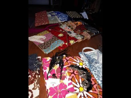 Some of the handmade accessories offered.