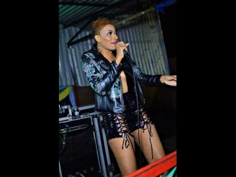 Recording artiste Shari Goddess entertains the crowd.