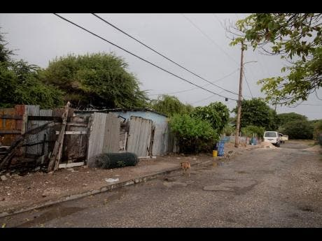 Houses in Port Royal that residents were asked to leave before January 2020.