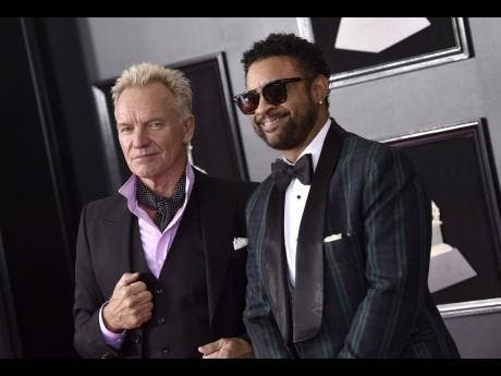 Sting (left) and Shaggy.