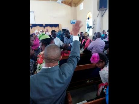 This photo shows the alleged miracle taking place in the church.