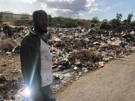 Craig Town resident Steve says the garbage is a grave discomfort.