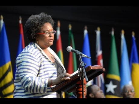Prime Minister of Barbados Mia Mottley.