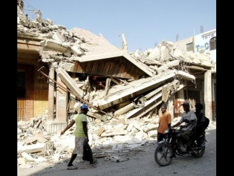 File Photo  A section of earthquake-damaged Haiti