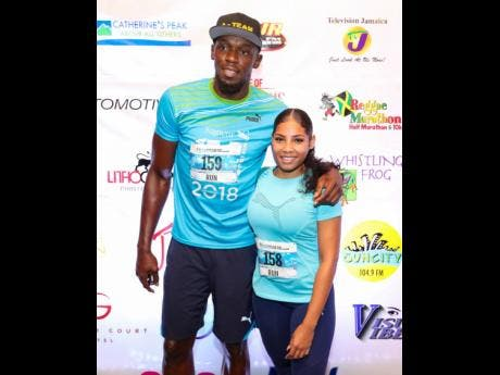Usain Bolt and Kasi Bennett.