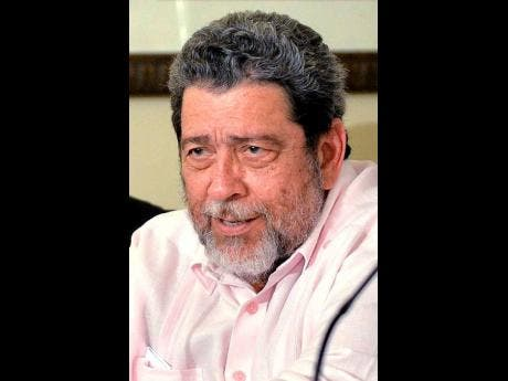 Ralph Gonsalves, prime minister of St Vincent and the Grenadines.