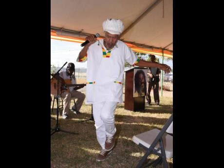 Jah Clive also known as 'olour Red, lead the Inna De Yard band through the catalogue of the Crown Prince of Reggae's greatest hits at Remembering Dennis Brown,a cultural gathering to celebrate the 63rd Birthday of the late Reggae legend.