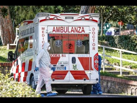 A high biocontainment ambulance arrives at the Columbus Covid 2 Hospital in Rome, yesterday.  At the Gemelli university polyclinic 21 new ICU units and 32 new beds for infective disease were opened as part of the new Columbus Covid 2 Hospital, an area fully dedicated to the COVID-19 cases in order to support the regional health authorities in containing the pandemic.