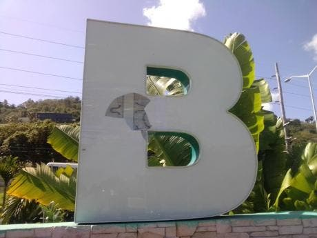 The 'B' in the 'Welcome to Montego Bay' sign has also been damaged.