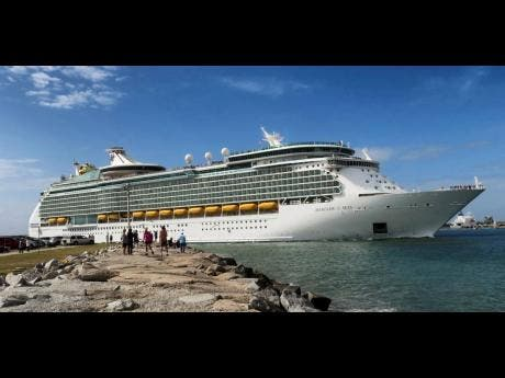Royal Caribbean's Mariner of the Seas departs Port Canaveral, Florida, last Friday. Royal Caribbean announced the suspension of all of their cruises worldwide for 30 days, in response to the coronavirus threat.