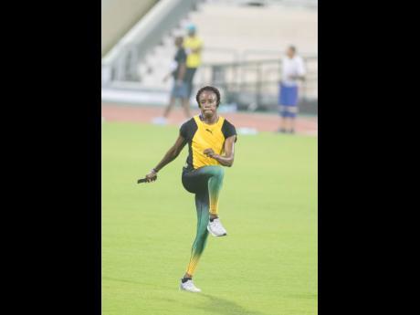 Sprint hurdler Danielle Williams executes her training programme at the Qatar Sports Club in Doha, Qatar ahead of last year's World Athletics Championships.