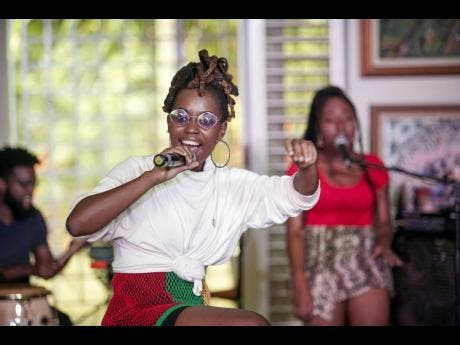 Jamila Falak performs during Digicel's Online Cameo Concert.