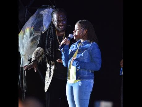 I-Octane performs with his daughter, Octavia, during the 27th staging of Rebel Salute at Grizzly's Plantation Cove in St Ann in January.