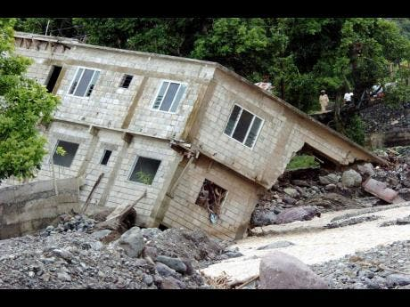 This house in Mt Lebanus in St Thomas was washed away during Hurricane Ivan in 2004.