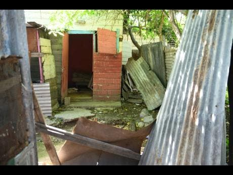 A view of the structure where Susan Bogle lived in August Town, St Andrew. She was reportedly she was shot and killed in her bed.