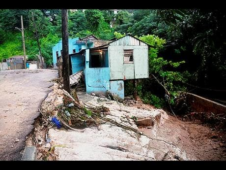 This house, located in Montego Bay, St James, was destroyed by flood waters in 2017.