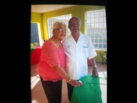 Alburn and Lola Miller, celebrating 70 years of marriage.