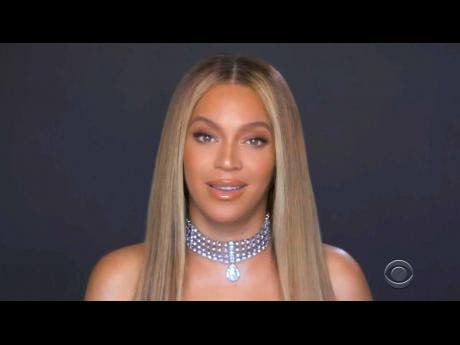 In this video grab, Beyoncé accepts the Humanitarian Award during the BET Awards.