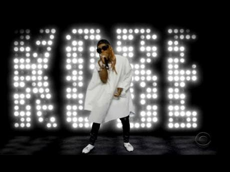 Lil Wayne performs a tribute to the late Kobe Bryant during the BET Awards.
