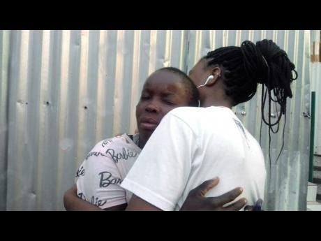 Tanesha McLaren (left), Shanika's mother broke down in tears and had to be comforted by another resident.