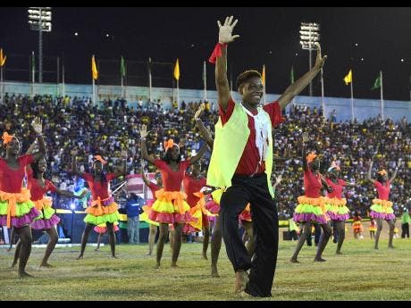 Dancers entertain at the annual Grand Gala held at the National Stadium in Kingston last year.