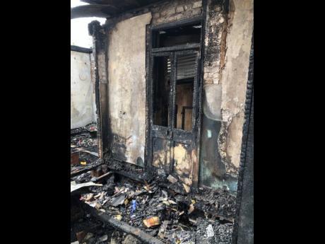 Maya Robinson's ravaged home.