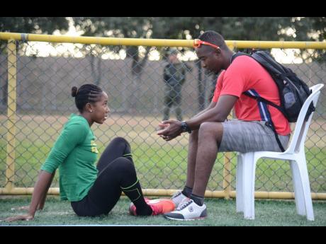 Coach Kerry Lee Ricketts and Shanieka Ricketts