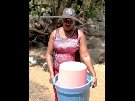 Cane River resident Dionne Lewis has been struggling to get water to do basic tasks such as laundry.