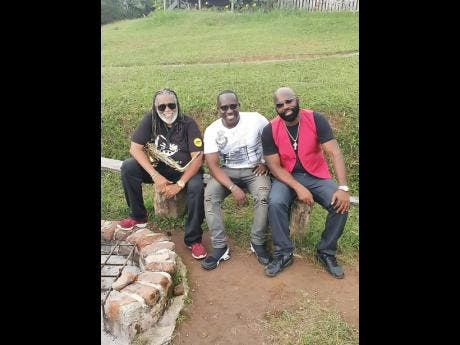 Musical greats (from left) Dean Fraser, DJ Smurf and Richie Stephens.