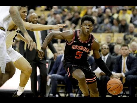 Georgia's Anthony Edwards heads to the basket during the first half of an NCAA college basketball game against Missouri in Columbia in this Tuesday, January 28, 2020 file photo.