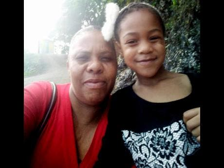 Jaydi-Ann Chambers and her mother.