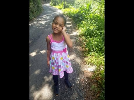 Five-year-old Jaydi-Ann Chambers.