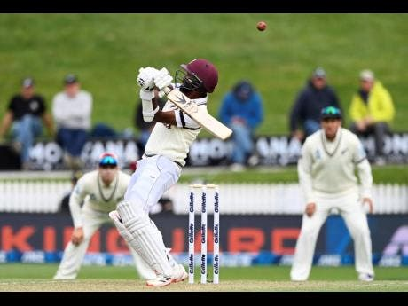 West Indies' Kraigg Brathwaite in action against New Zealand on day three of their first Test in Hamilton, New Zealand, on Saturday, December 5.