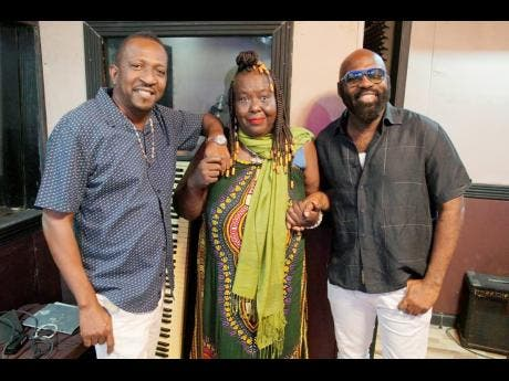 Little Lenny (left), Yvonne Sterling (centre) and Richie Stephens.