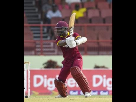 File Jason Mohammed plays a cut shot during the first ODI match between West Indies and Pakistan at Guyana National Stadium, Providence, Guyana, on Friday April 07, 2017.