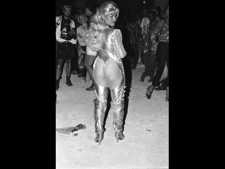 Dancehall Queen Carlene, seen here at Reggae Sumfest in 1993, is regarded as the forerunner of donning skimpy clothing and dazzling hairstyles in dancehall.