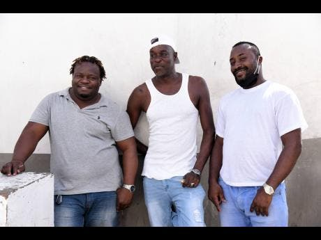 Taximen (from left) Nappa, Junior and Hardball say that they will not take the COVID-19 test and will only take the vaccine if the Prime Minister takes it first.