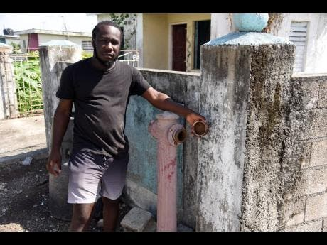 Lionel Downer says there is no water flowing through the fire hydrants in the community.