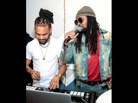 Coppershot disc jockey Ash (left) and dancehall deejay and producer Delly Ranx.