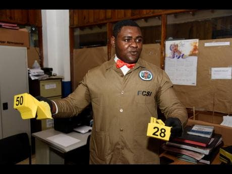 O'Derick Campbell explains what it takes to process a crime scene.