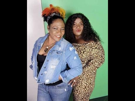 Donna Gowe (right) and friend and 'Bang-A-Rang Inna Aunty Donna House' cast mate, Audrey Reid.